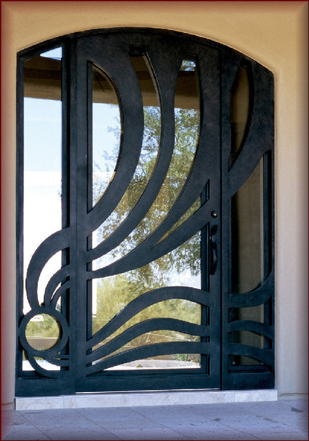 Iron Doors Modern Entry Phoenix By Rustic Decor