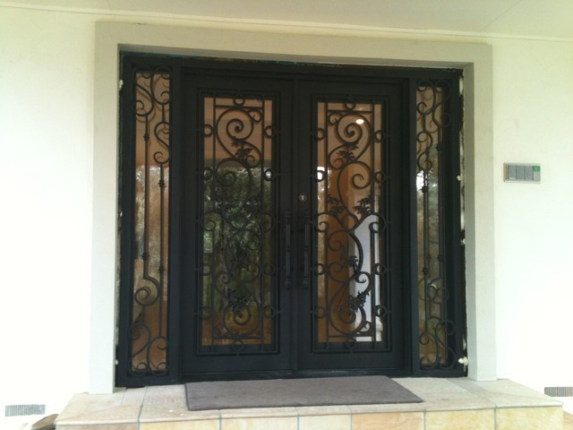 Iron Entry Door For Australias Residence Traditional Entry