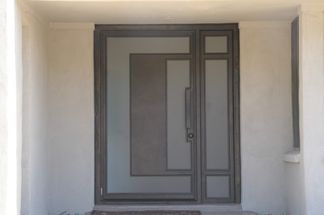 Iron Entry Doors Modern Entry Phoenix By Colletti Design