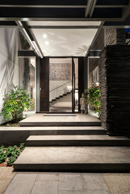 Irvine house contemporary entry perth by dtda pty ltd for Decoration exterieur jardin moderne