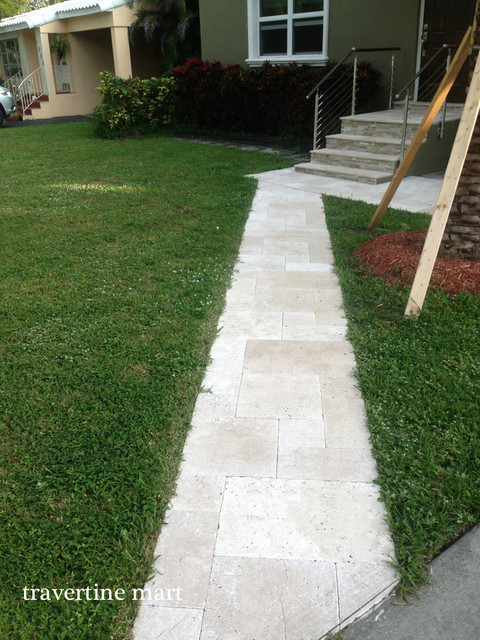 Ivory Travertine Walkway Tiles And Pavers Natural Stone