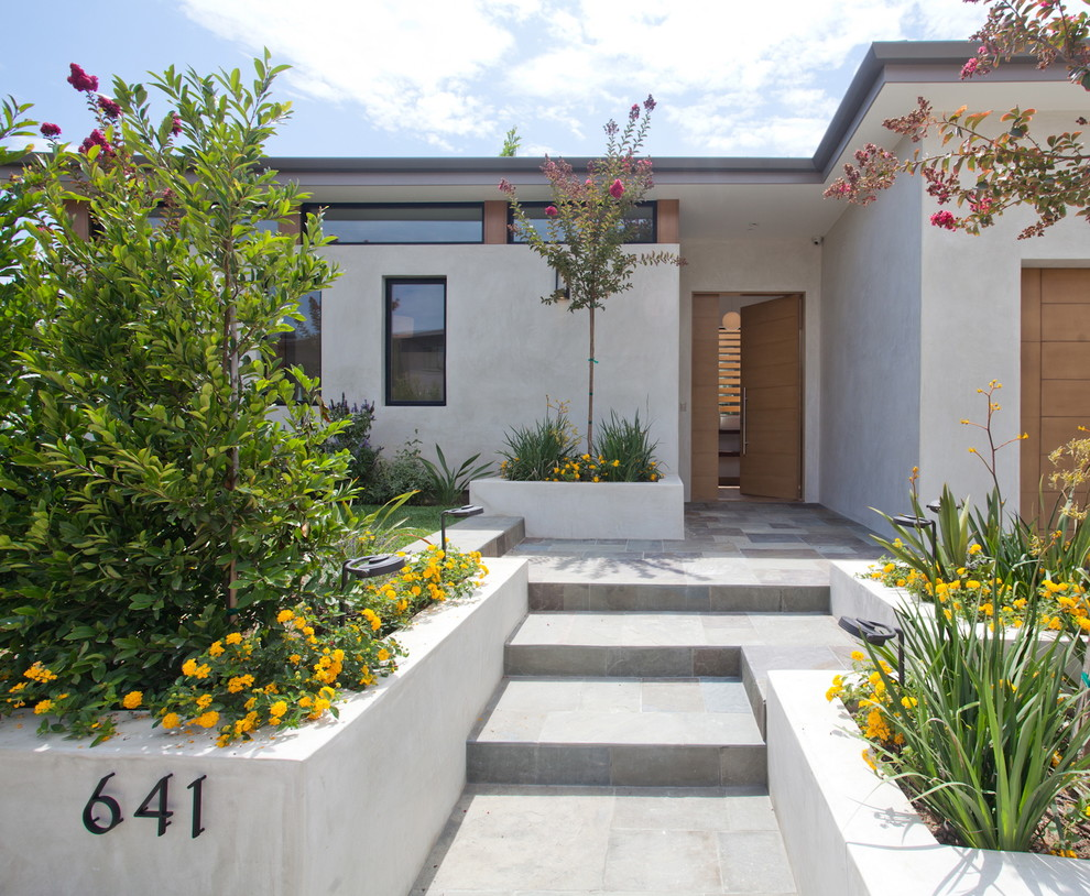 Inspiration for a contemporary single front door remodel in Los Angeles