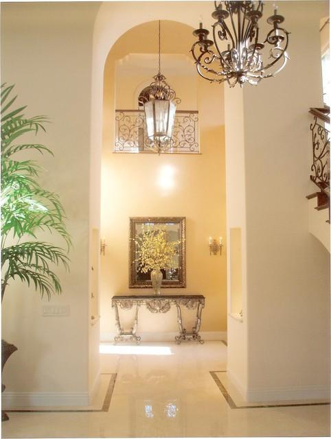 Mediterranean Foyer Decor : Janzel kelly interiors
