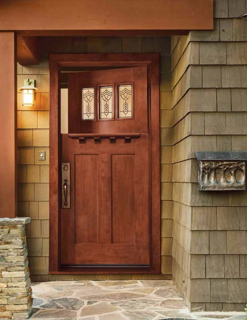 Jeld wen 383 cherry craftsman dutch door cherry finish for Jeld wen front entry doors