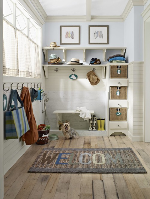 Farmhouse Entry by Greenfield Kitchen & Bath Designers Classic Kitchens & Baths