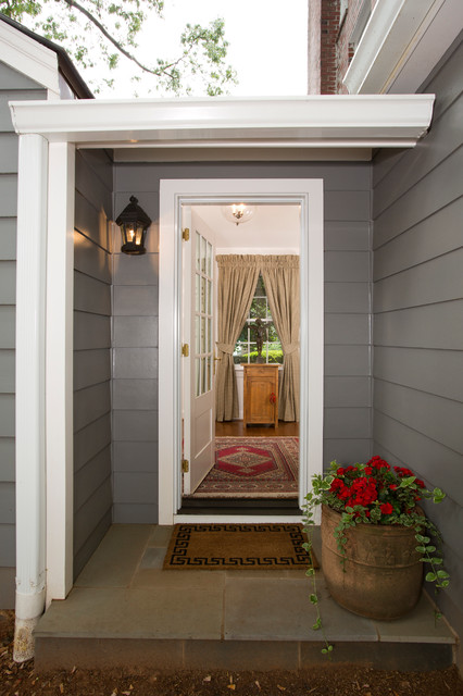 Kitchen and Enclosed Porch created in new Addition traditional-entry