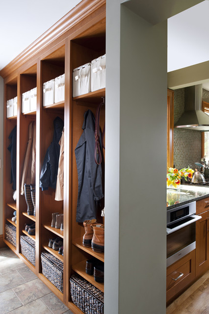 Kitchen and Mudroom traditional-entry