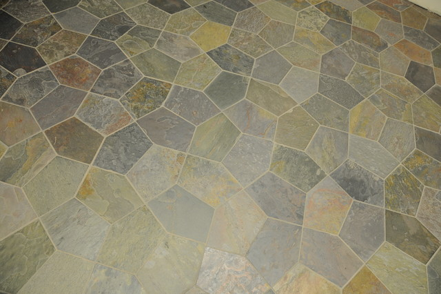 Kund Random Flagstone On Mesh Contemporary Entry Milwaukee By Home Tile Design