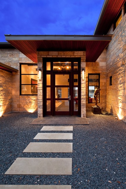 Lake Austin Waterfront Home Contemporary Entry