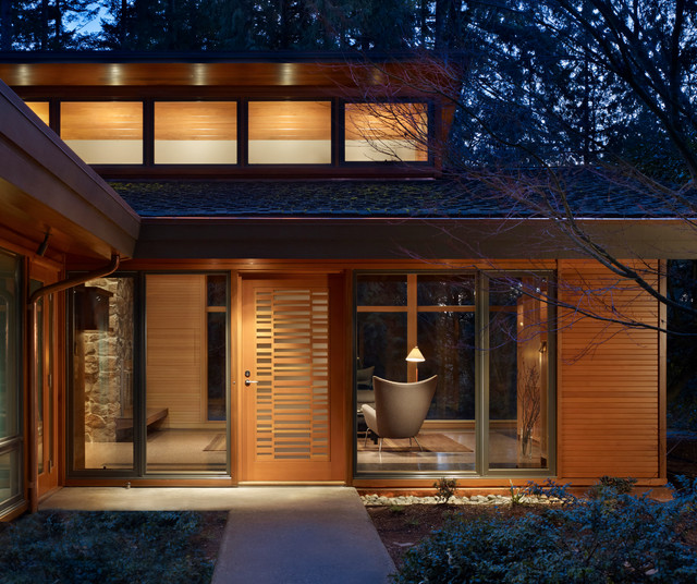 Lake Forest Park Renovation contemporary-entry
