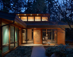 Lake Forest Park Renovation midcentury-entry