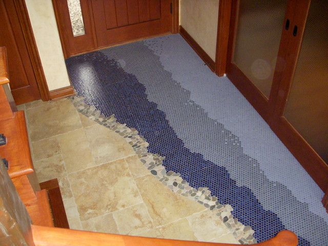 Lake house foyer eclectic entry milwaukee by for Entrance foyer tiles