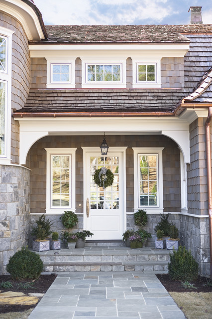 Design ideas for a large victorian front door in Other with a single front door and a glass front door.