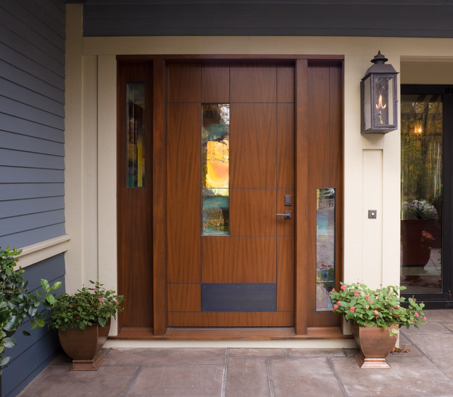 Lake Michigan Retreat - Front Door - Transitional - Entry ...