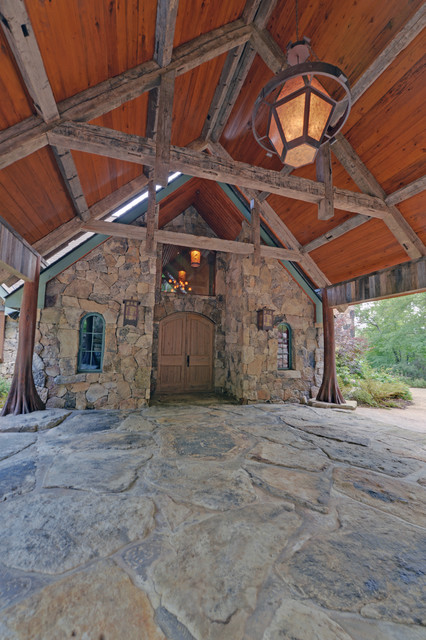 Lake Rabun Custom Homes Rustic Entry Atlanta By