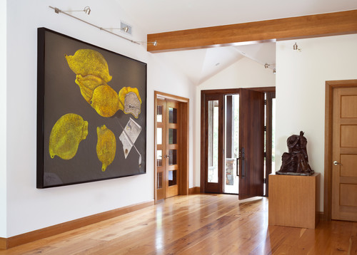 Contemporary Entry By Boulder Interior Designers Decorators Pocci Design Group Featuring Carlisle Wide Plank Hickory Wood Flooring