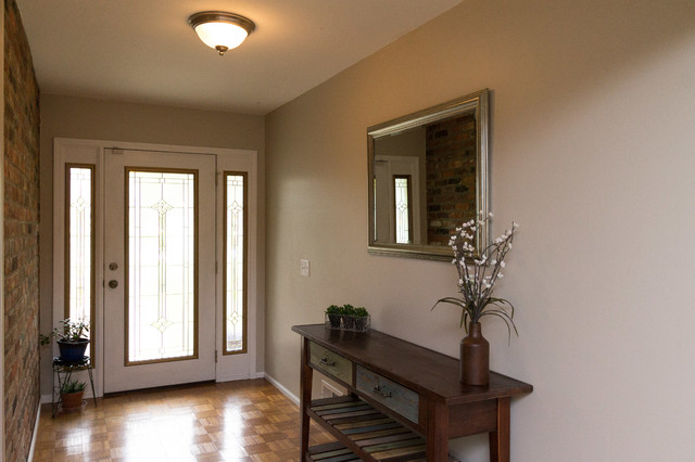 Traditional Foyer Jobs : Lambertville mi home staging entryway after