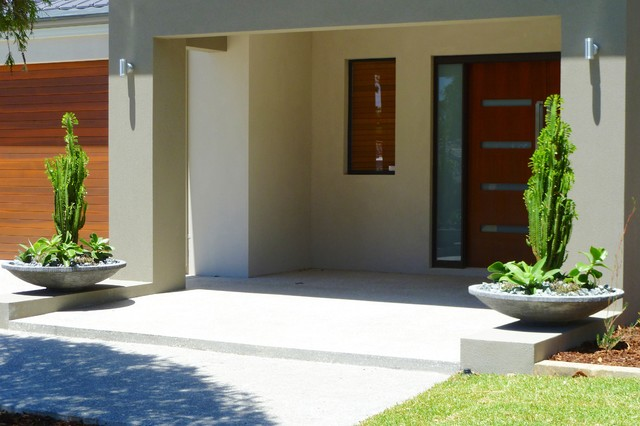 Landscaping perth vicki 39 s house modern entry perth for Entryway garden designs
