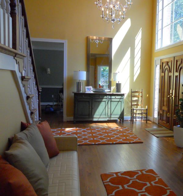 Houzz Large Foyer : Large bethesda foyer