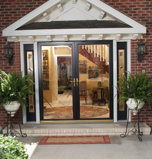 Larson fullview storm door entry traditional entry for Storm doors for double entry doors
