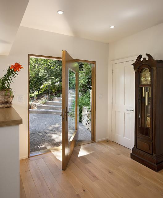 Las Canoas Remodel Center Pivot Door Contemporary