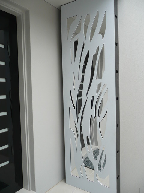 Laser Cut Metal Screens Contemporary Entry Melbourne