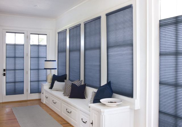 """Levolor Accordia 9/16"""" Designer Single Cell from Blinds.com traditional-entry"""