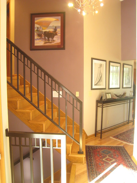 Split Foyer Stair Railing : Lindquist stairwell eclectic entry minneapolis by