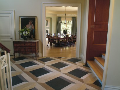 Creating a visual behavior on on the flooring with encaustic cement Decorating With Geometric 3D Flooring.......Modern Yet Classical