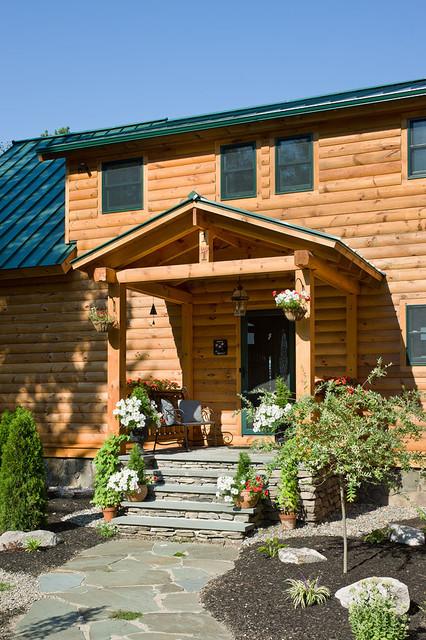 Log homes cabins coventry log homes custom craftsman for Craftsman log homes