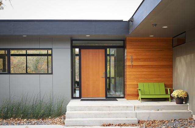 Lotus Lake House contemporary-entry