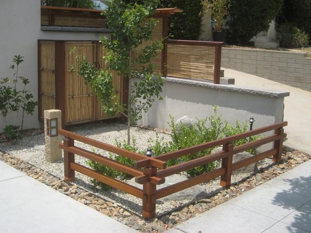 Low Japanese Zen Garden Fence   Asian   Entrance   San Diego ...