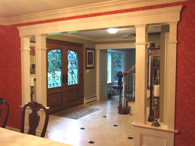 Interior Columns low walls/interior columns - traditional - entry - new york -
