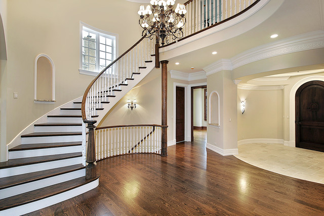 Luxury Foyer And Stairway Traditional Entry New York