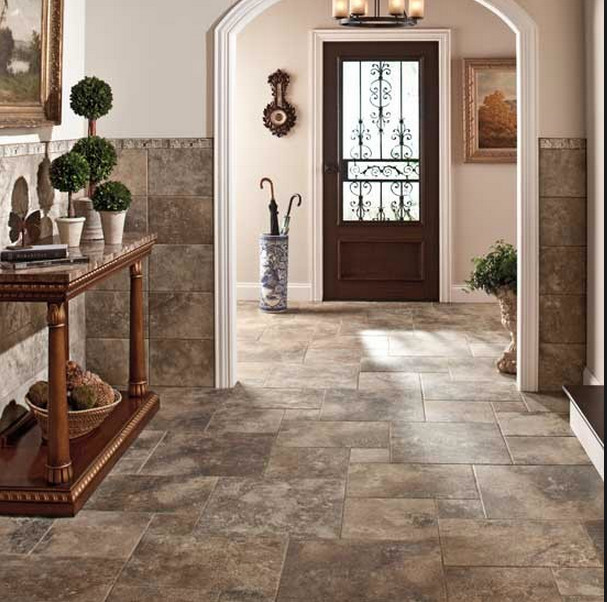 Luxury Tile Flooring Gallery contemporary-entry