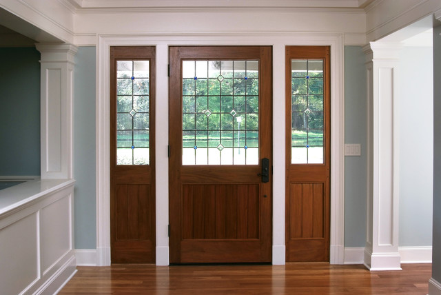 Mahogany Shaker Style Exterior Door - Traditional - Front Doors - other metro - by Baird ...