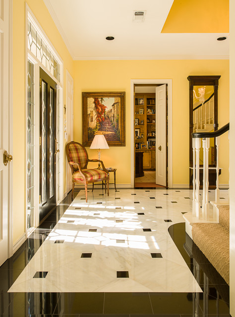 Limestone Foyer Flooring : Marble foyer traditional entry dallas by american