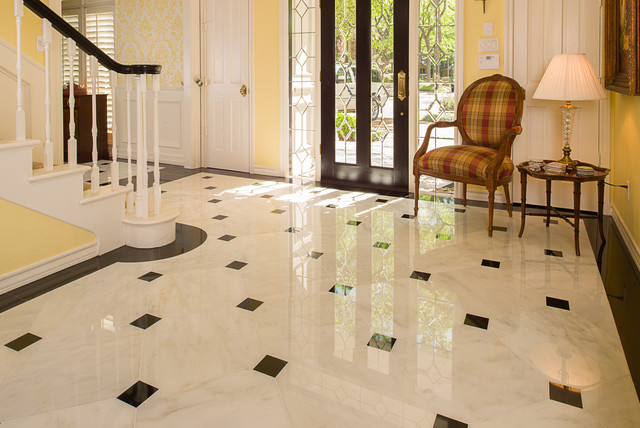 Marble Foyer Traditional Entry Dallas By American