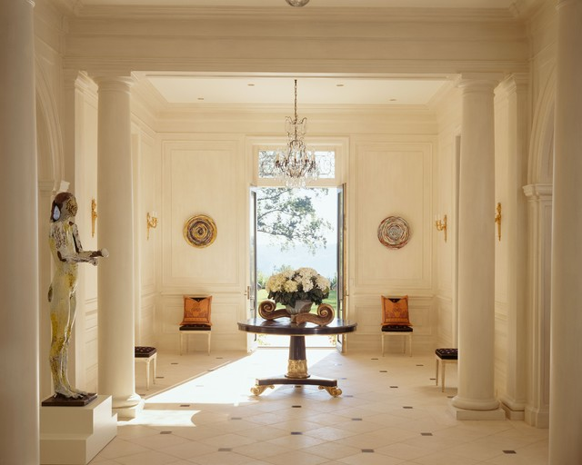 Foyer Stone Design : Marble foyer traditional entry dc metro by