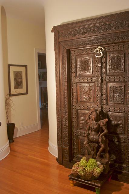Marie Burgos Tropical Design Home Indian Entrance New York