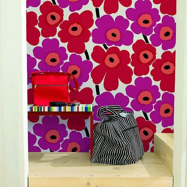 marimekko wallpaper unikko 13071 moderno ingresso altro di modern karibou. Black Bedroom Furniture Sets. Home Design Ideas