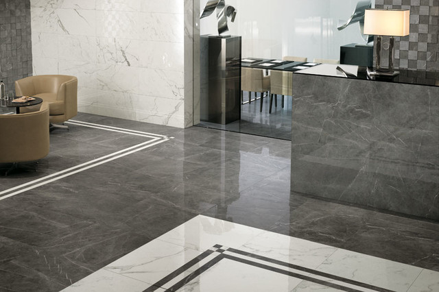 Marvel - Premium Italian Marble Look Porcelain Tiles - Contemporary - Entry  - Auckland - by Tile Space New Zealand | Houzz
