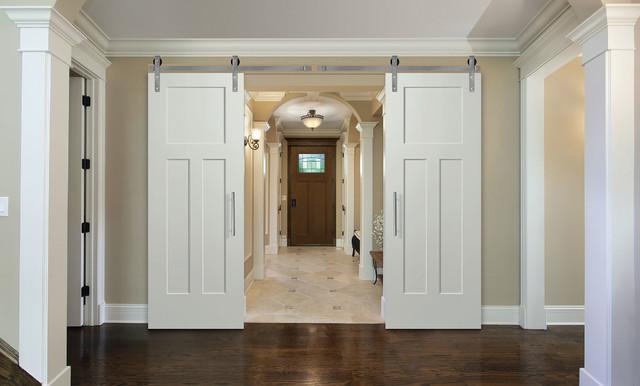 Double Barn Door -Winslow Heritage Series Door - Shaker Style Recessed Panels - Barn Door ...