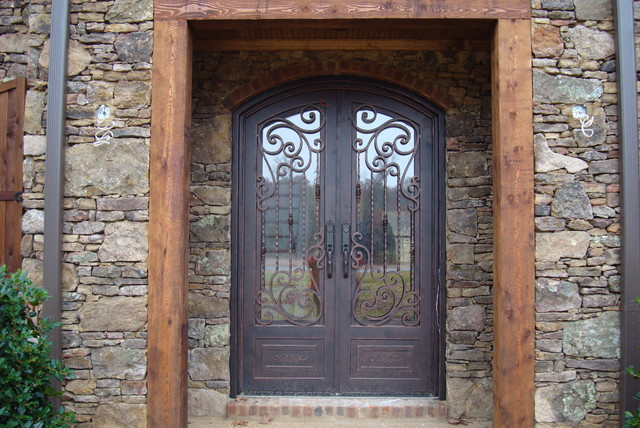 Mcknight mediterranean entry other by tuscan iron for Mediterranean style entry doors