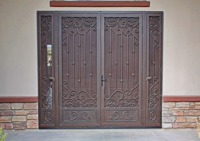 Custom Security Screen Door by First Impression Security Doors - Mediterranean - Entry - phoenix ...