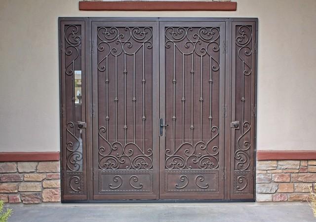 Decorative Security Screen Doors : Custom security screen door by first impression