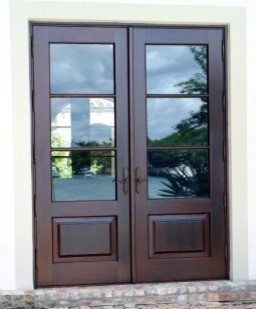 French doors mediterranean entry other metro by borano for 4 panel french doors exterior