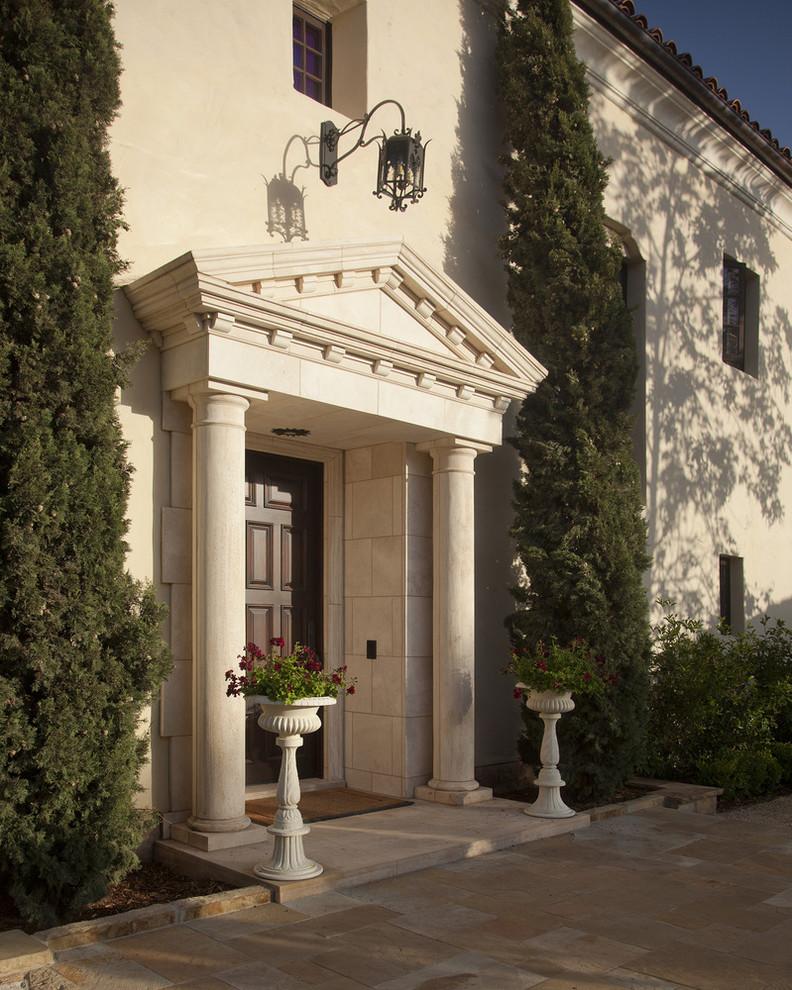 Inspiration for a mediterranean entryway remodel in Santa Barbara