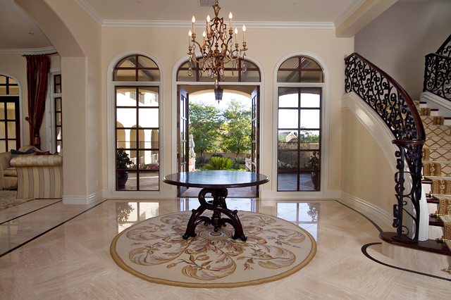 Mediterranean New Home traditional-entry