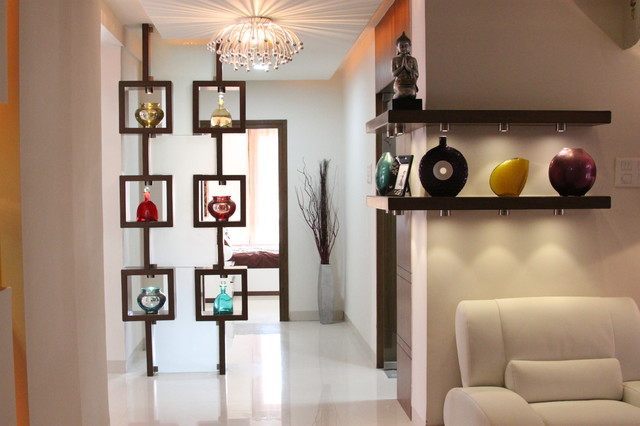 Meenakshi trident towers model apartment for Apartment entrance decoration